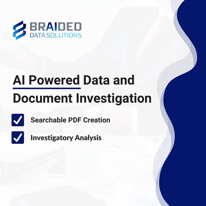 AI powered document and data investigation